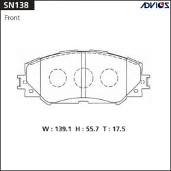 Тормозные колодки Advics SN138