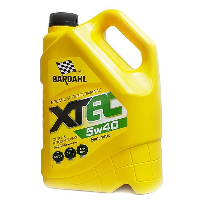 Моторное масло Bardahl XTEC 5W-40 (5 л.) 36343