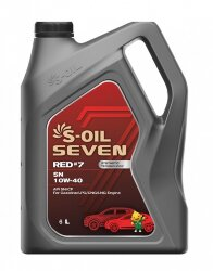 Моторное масло S-Oil Seven RED7 SN 10W-40 (6 л.) E107696