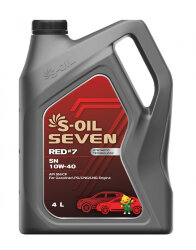 Моторное масло S-Oil Seven RED7 SN 10W-40 (4 л.) E107697