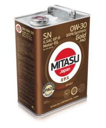 Моторное масло Mitasu MJ-103 Gold PAO SN 0W-30 (4 л.) MJ1034