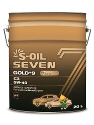 Моторное масло S-Oil Seven GOLD9 C3 5W-40 (20 л.) E107760