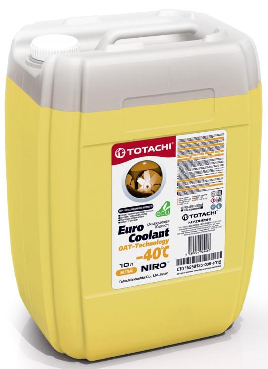 Охлаждающая жидкость Totachi Niro Euro Coolant OAT-Technology -40C (10 л.) 4589904926648
