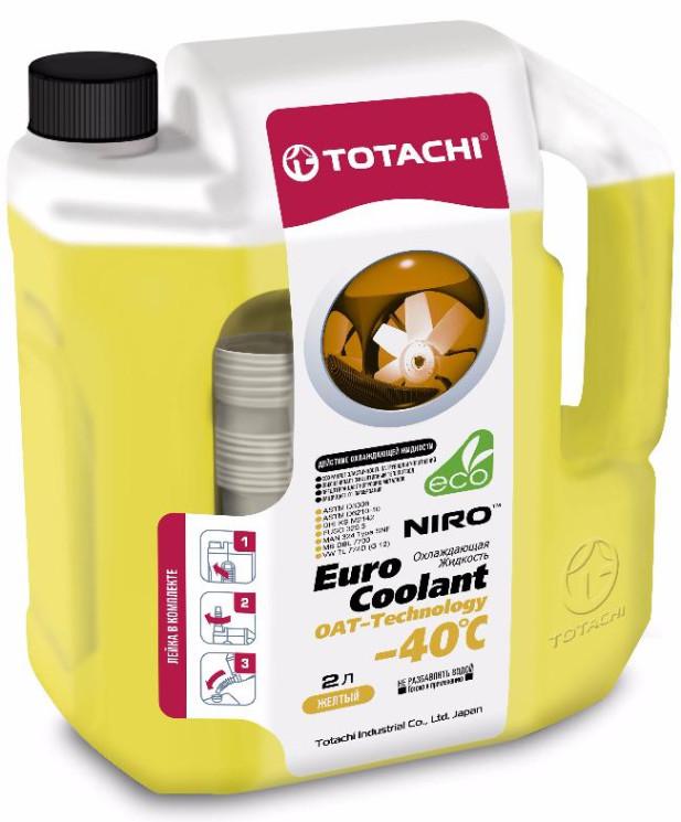 Охлаждающая жидкость Totachi Niro Euro Coolant OAT-Technology -40C (2 л.) 4589904923975