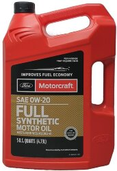 Моторное масло Ford Motorcraft 0W-20 Full Synthetic (5 л.) XO-0W20-5QFS