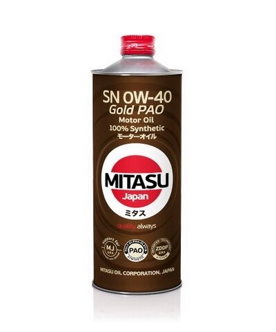 Моторное масло Mitasu MJ-104 Gold PAO SN 0W-40 (1 л.) MJ1041