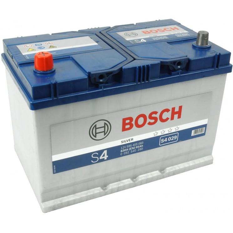 Аккумулятор Bosch S4 95Ah 830A 306x173x225 п.п. (+-)