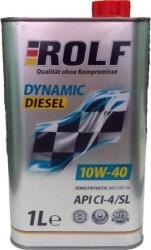 Моторное масло Rolf Dynamic Diesel 10W-40 CI-4/SL (1 л.) 322231