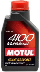Моторное масло Motul 4100 Multidiesel 10W-40 (1 л.) 102812