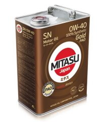 Моторное масло Mitasu MJ-104 Gold PAO SN 0W-40 (4 л.) MJ1044