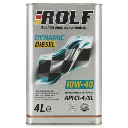 Моторное масло Rolf Dynamic Diesel 10W-40 CI-4/SL (4 л.) 322226