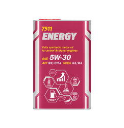 Моторное масло Mannol 7511 Energy 5W-30 (1 л.) 7016M