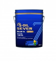 Моторное масло S-Oil Seven BLUE9 CI-4/SL 15W-40 (20 л.) E107847