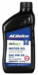 Моторное масло ACDelco Motor Oil 0W-20 (1 л.) 109236
