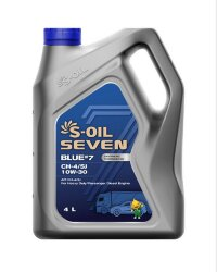 Моторное масло S-Oil Seven BLUE7 CH-4/SJ 10W-30 (4 л.) E107886