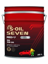 Моторное масло S-Oil Seven RED7 SN 5W-30 (20 л.) E107661