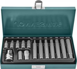 Набор вставок (бит) Jonnesway шестигранных (30 и 75 мм) 4-12 мм., 15 предметов 47396 S29H4115S