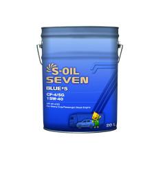 Моторное масло S-Oil Seven BLUE5 CH-4/SJ 15W-40 (20 л.) E107933