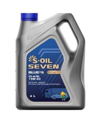 Моторное масло S-Oil Seven BLUE9 CI-4/SL 15W-40 (4 л.) E107845