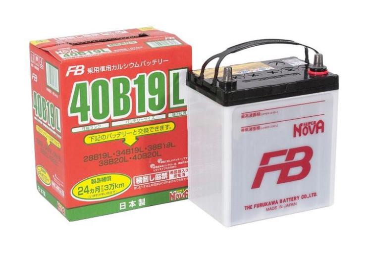 Аккумулятор Furukawa Battery Super Nova 38Ah 330A 185x125x227 о.п. (-+) 40B19L